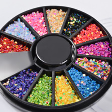 3D Nail Art Glitter Colorful Acrylic Sepuins Manicure Tips Decoration Accessory