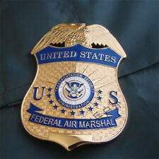 United States Metal Badge US FEDERAL AIR MARSHAL Copper Badge Collectible Emblem