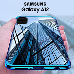Cover For Samsung Galaxy A12 Case Electro TPU + Film Tempered Glass 9H