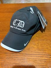 Nike Dri-Fit Swoosh Perforated Black - Hat Adjustable Cap 429467 Company Logo