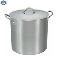 NEW 16-Quart Stock Pot Stainless Steel with Metal Lid and Handles