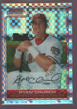 RYAN CHURCH 222/250 $12 WASHINGTON NATIONALS NATS XFRACTOR 2006 BOWMAN CHROME