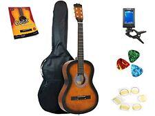 Star Acoustic Guitar 38 Inch, Bag, Tuner, Strings, Pick, Beginner Guide Sunburst