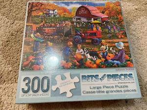 """Bits & Pieces 300 Large Piece Puzzle, Autumn Festival 18"""" X 24"""", pumpkin fall"""