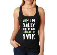 Women's Don't Be Salty Margarita Cinco De Mayo Spring Break Racer-back Tank-Top