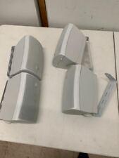 (4) Dual Electronics LU43PW 3-Way Outdoor Indoor Speakers with Bass