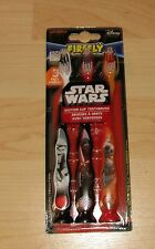 Disney Firefly Star Wars Suction Cup Toothbrush  3 Pack Lucas Film ADA Tongue Cl