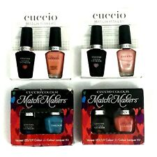 Lot 4 Packs (8 Pc) Cuccio Match Makers LED Veneer Gel Polish 6040 6019 6403 6400