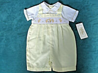 Vtg CARRIAGE BOUTIQUES FRIEDKNIT CREATIONS Outfit Boys 6 mos Yellow EASTER NWT