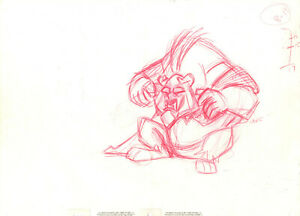 Disney: Beauty and the Beast- Original Production Drawing- Beast
