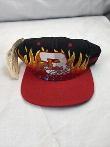 Vintage Dale Earnhardt Sr. #3 Flames Snap Back Chase Authentic Hat 90's