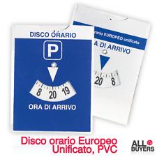 Disco Orario Parcometro Per Auto Parcheggio Europeo Unificato Sosta A Ore