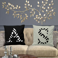 GEOMETRICAL A, B, C, TO Z CUSHION COVER YOU CHOOSE YOUR INITIAL HOME DECORATIVE