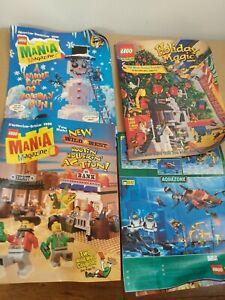 1996 Lego Magazine & Advertisement Lot WILD WEST AQUAZONE PIRATES KNIGHTS TRAINS