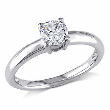 Amour 1/2 CT TW Diamond Solitaire Engagement Ring in 14k White Gold