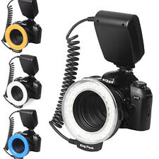 RF-550D Macro 48PCS LED Ring Flash w/ 8PCS Adapters for Nikon Canon DSLR Camera