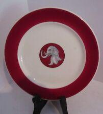 "Vintage University of Alabama Crimson Tide 7.25"" Souvenir Plate-Elephant"