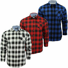 Mens Shirt by Brave Soul Brushed Flannel Check Long Sleeved