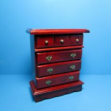 Dollhouse Miniature Bedroom Dresser ~ Wood in Mahogany T3819
