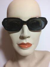 Authentic Fendi FS200 Black and Horn Rectangular Sunglasses EUC