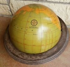 "Vintage Cram's Imperial 12"" Simplified World Globe and Metal Stand"