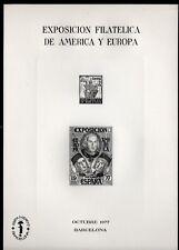 Hoja Recuerdo  1977 Edifil 55