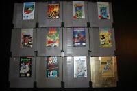 12 Game NES Lot Castlevania I II Contra Mickey's Safari Shadowgate Zelda II Link