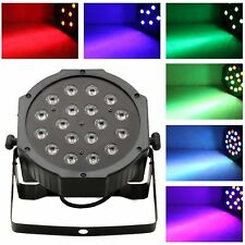 PROIETTORE DMX EFFETTO LUCE LED FLAT PAR LIGHT RGB 18 LED HIGH BRIGHTNESS