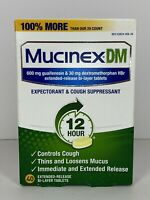 Mucinex DM 12-Hour Expectorant and Cough Suppressant Tablet, 40 Count