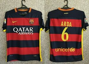 Barcelona FC Arda #6 Barça Football Shirt Soccer Jersey Camiseta Maglia Mens S-M