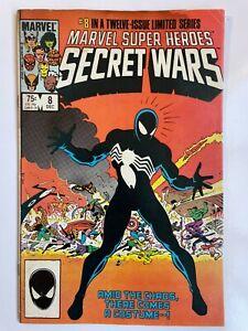 Marvel Super-Heroes Secret Wars #8 - Spider-Man Venom 1st Symbiote Comics