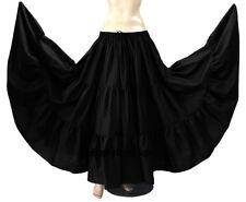 White - Cotton 10 Yard 3 Tier Belly Dance Gypsy Tribal Ethenic Flamenco Skirt