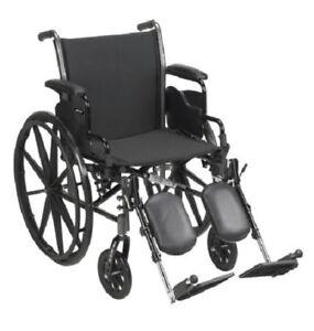 "Lightweight 18"" Wheelchair, Detachable Desk Arm, Swing Away Elevating Leg Rest"
