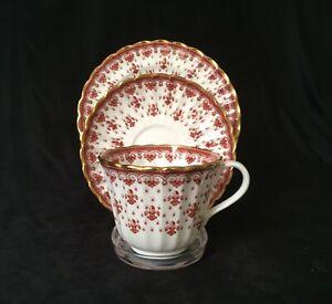 Rare Spode Fleur De Lys Red Trio(s) - Cup, Saucer & Plate - 7 Left