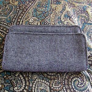 THIRTY-ONE Perfect Cents plum/white zip around clutch organizer wallet-NWOT