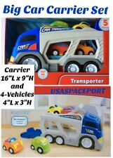 5pc Kids BIG Mack Truck CAR CARRIER TRANSPORTER SET Sounds Preschool Toddler Lot