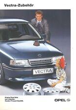 Opel Vectra Zubehör Prospekt 2/89 brochure 1989 Auto PKWs Deutschland Broschüre