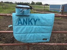 ANKY Scuba Blue Dressage Saddle Pad Set
