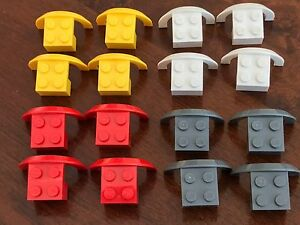 4x Set of 4 Lego 50745 Mud Guard Wheel Arch Grey White Red or Yellow