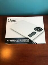 Ozeri Zk18-Wb Rev Digital Kitchen Scale with Electro-Mechanical Weight Dial Nib