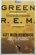 R.E.M. 2013 GREEN 25th anniversary promotional poster Flawless New Old Stock
