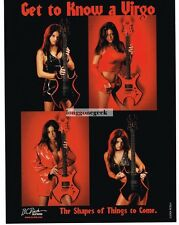 "2004 B.C. Rich Electric Guitar ""Get To Know A Virgo"" Vtg Print Ad"