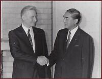 1985 Original Photo Japan Yasuhiro Nakasone Prime Minister Gyorgy Lazar Hungary