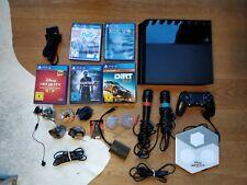 Sony PlayStation 4 500GB Schwarz gebraucht mit 5 Spielen