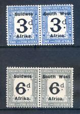 South West Africa 1927 3d & 6d postage dues mint pairs (2018/06/01#05)