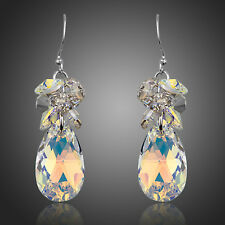 Made With AB Multi Coloured Sparkle Shine Swarovski Crystal Drop Dangle Earrings