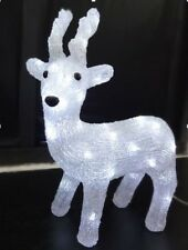 37cm Reindeer Acrylic Motif with 30 LED bulbs