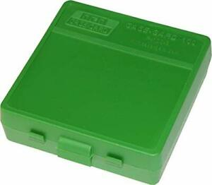 MTM 100 Round Pistol Ammo Box 9mm/380/30 Luger - Green Poly P-100-9-10