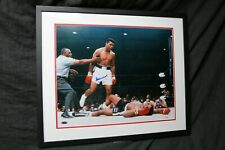 "MUHAMMAD ALI/SONNY LISTON 16""X20"" FRAMED COA STEINER SPORTS"