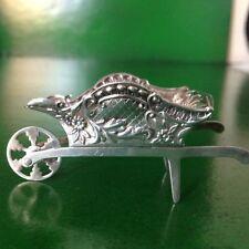 Rare Novelty Antique English Sterling Silver Wheelbarrow 1908